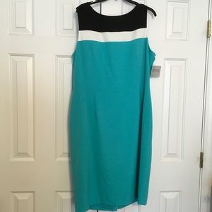 Kasper Color Block Dress